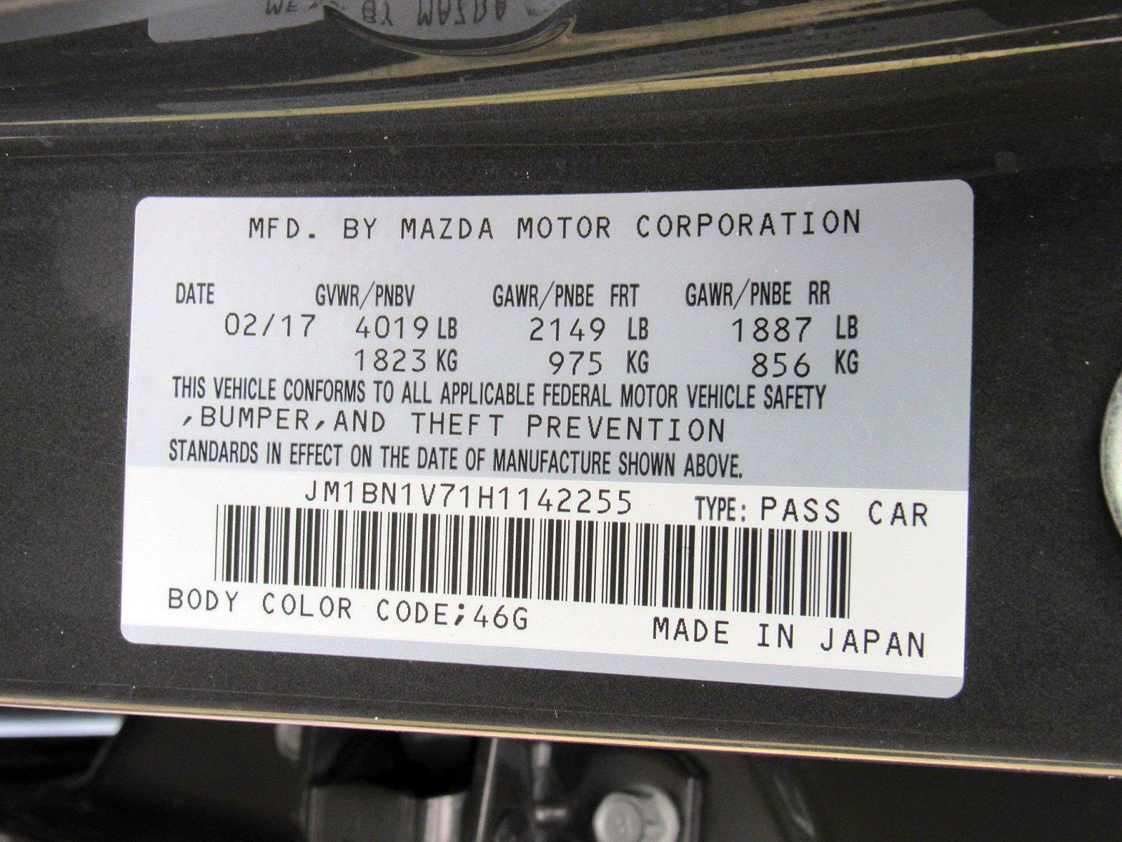 2017 Mazda Mazda3 4-Door 4dr Car