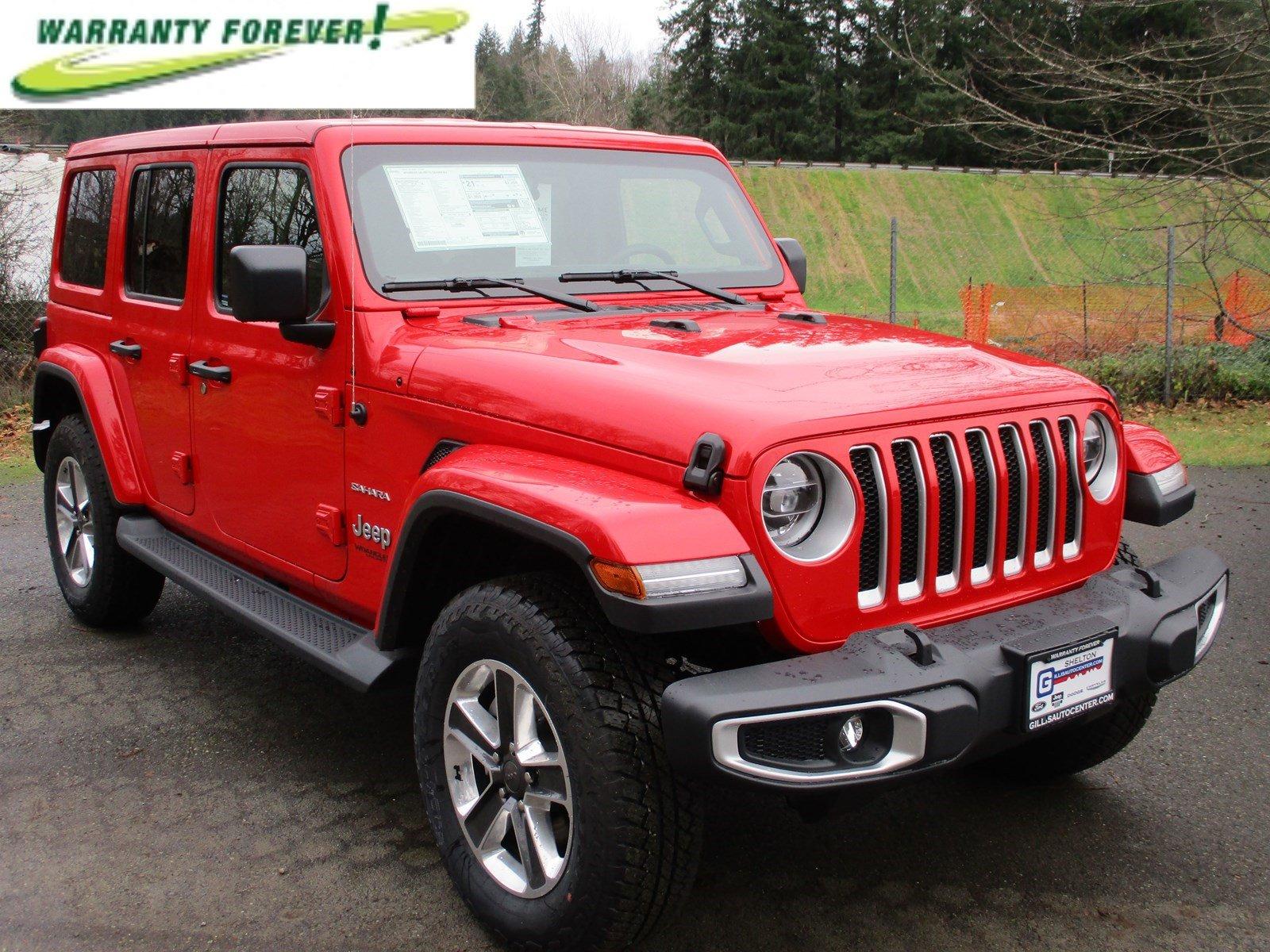 New 2020 Jeep Wrangler Unlimited Sahara 4x4