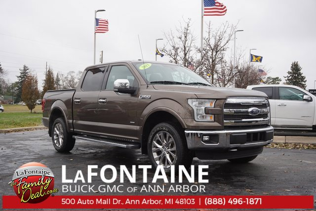 2015 Ford F-150 Lariat Turbocharged Four Wheel Drive Tow Hitch Power Steering ABS 4-Wheel Disc
