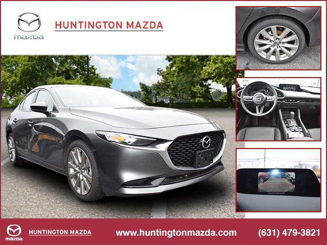 2019 Mazda Mazda3 Sedan wSelect Pkg BLACK  LEATHERETTE SEAT TRIM SELECT PACKAGE MACHINE GRAY MET
