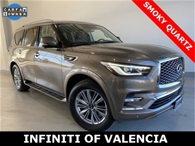 2019 INFINITI QX80 LUXE GRAPHITE  SEMI-ANILINE LEATHER-APPOINTED SEATING WQUILTING GRAPHITE  LEAT