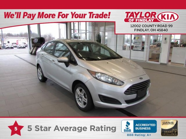 2017 Ford Fiesta SE Front Wheel Drive Power Steering ABS Front DiscRear Drum Brakes Aluminum W