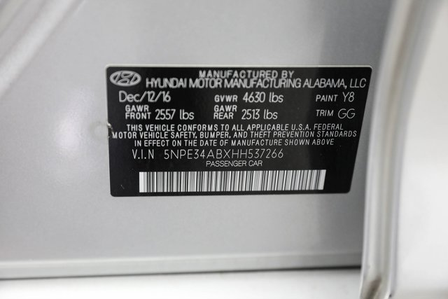 2017 Hyundai Sonata for sale 124601 31