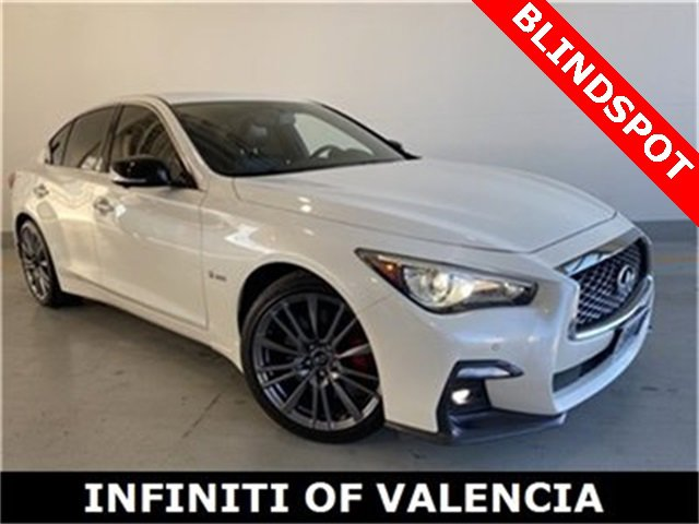 2018 INFINITI Q50 RED SPORT 400 QUILTED GRAPHITE  SEMI-ANILINE QUILTED LEATHER SEATING SURFACES B