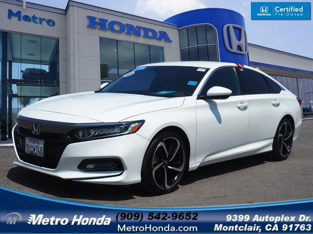 2019 Honda Accord Sedan Sport 1.5T Sport 1.5T CVT Intercooled Turbo Regular Unleaded I-4 1.5 L/91 [14]