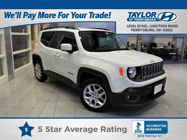 2016 Jeep Renegade Latitude BLACK  CLOTH LOW-BACK BUCKET SEATS ENGINE 24L I4 MULTIAIR  -inc Fle