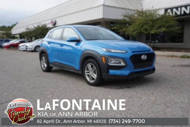 2019 Hyundai Kona SE BLACK  CLOTH SEAT TRIM SURF BLUE All Wheel Drive Power Steering ABS 4-Whe