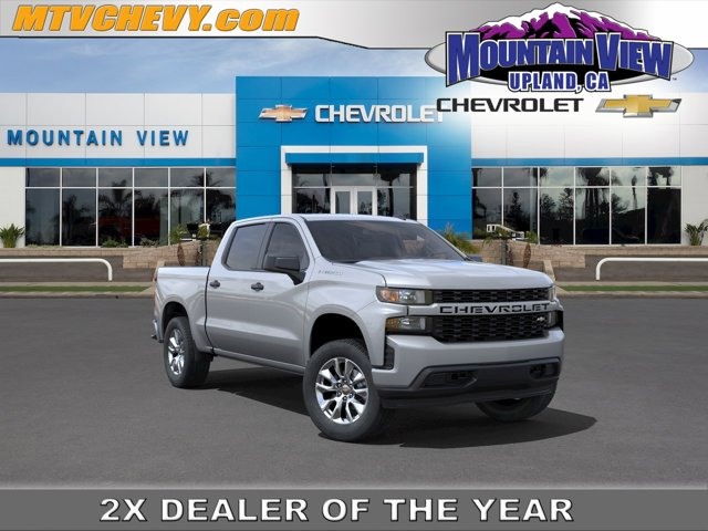 """2021 Chevrolet Silverado 1500 Custom 2WD Crew Cab 147"""" Custom Turbocharged Gas I4 2.7L/166 [1]"""