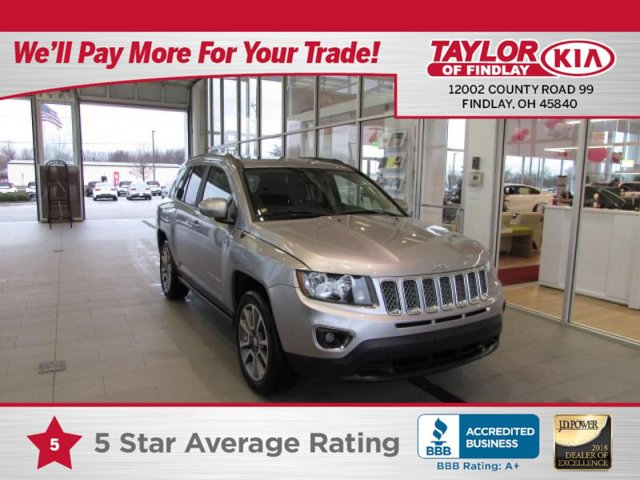 2017 Jeep Compass High Altitude DARK SLATE GRAY  LEATHER TRIMMED BUCKET SEATS TIRES P21555R18 BS