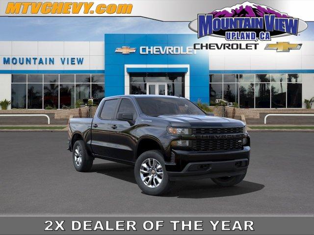 """2021 Chevrolet Silverado 1500 Custom 2WD Crew Cab 147"""" Custom Turbocharged Gas I4 2.7L/166 [0]"""