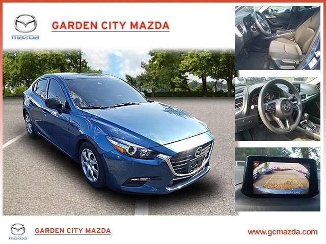 2018 Mazda Mazda3 4-Door Sport BLACK  PREMIUM CLOTH SEATS ETERNAL BLUE MICA BLACK  CLOTH SEAT TRI