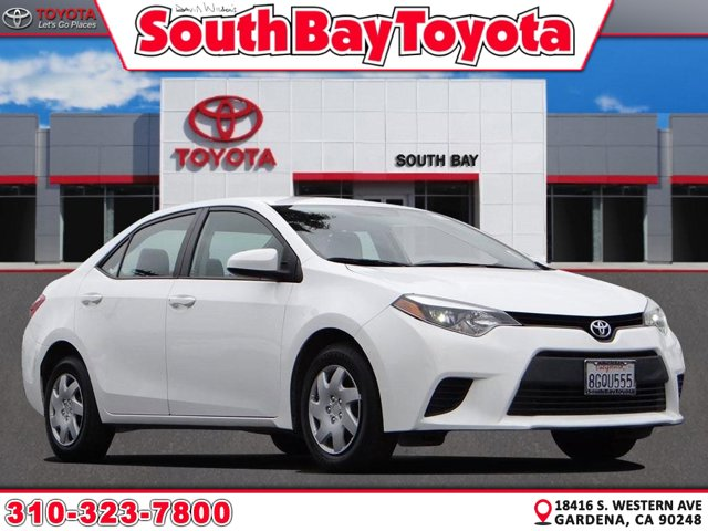 2016 Toyota Corolla  Regular Unleaded I-4 1.8 L/110 [1]
