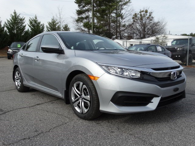 2017 Honda Civic Sedan FC2F5HEW LX Continuously Variable Silver Black Front Wheel Drive Power