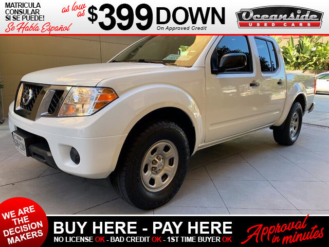 2015 Nissan Frontier S STEEL  CLOTH SEAT TRIM GLACIER WHITE L92 FLOOR MATS Rear Wheel Drive P