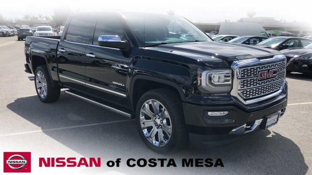 2017 GMC Sierra 1500 Denali JET BLACK  PERFORATED LEATHER-APPOINTED FRONT SEAT TRIM ACTIVE NOISE C