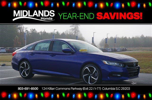 2019 Honda Accord Sedan Sport 1.5T Sport 1.5T CVT Intercooled Turbo Regular Unleaded I-4 1.5 L/91 [1]