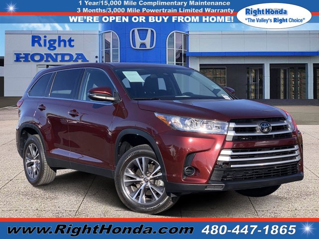 2019 Toyota Highlander LE V6 LE V6 FWD Regular Unleaded V-6 3.5 L/211 [4]