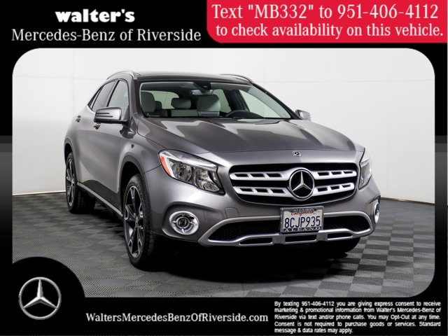 2018 Mercedes-Benz GLA 250 GLA 250 SUV Intercooled Turbo Gasoline I-4 2.0 L/121 [0]