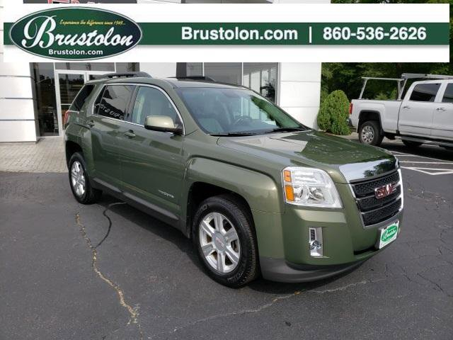 2015 GMC Terrain SLT LIGHT TITANIUM  PERFORATED LEATHER-APPOINTED CYPRESS GREEN METALLIC ENGINE