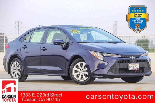 2020 Toyota Corolla LE LE CVT Regular Unleaded I-4 1.8 L/110 [0]