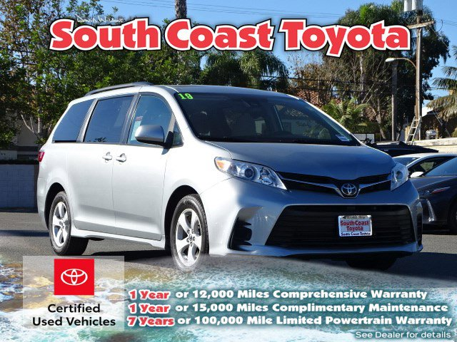 2019 TOYOTA SIENNA LE LE FWD 8-Passenger Regular Unleaded V-6 3.5 L/211 [18]