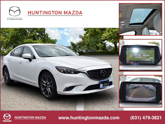 2017 Mazda Mazda6 Grand Touring SNOWFLAKE WHITE PEARL MICA PAINT CHARGE PARCHMENT  LEATHER SEAT TR