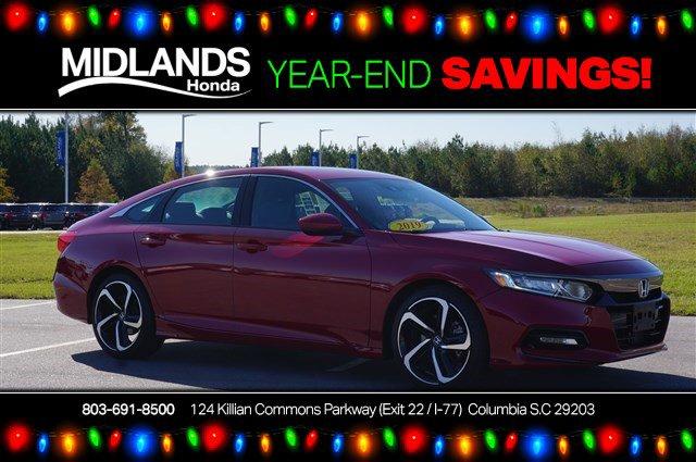 2019 Honda Accord Sedan Sport 1.5T Sport 1.5T CVT Intercooled Turbo Regular Unleaded I-4 1.5 L/91 [3]