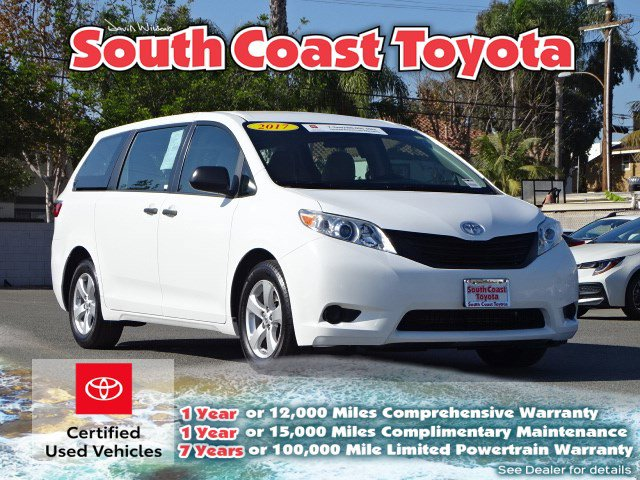 2017 TOYOTA SIENNA L L FWD 7-Passenger Regular Unleaded V-6 3.5 L/211 [6]