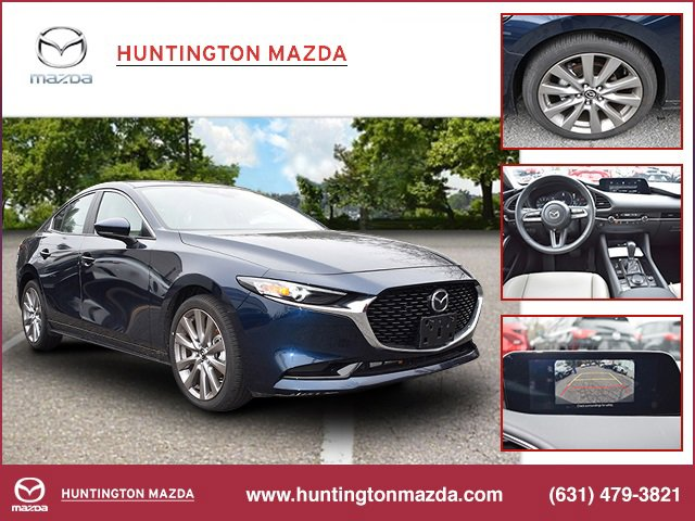 2019 Mazda Mazda3 Sedan wPreferred Pkg DEEP CRYSTAL BLUE MICA PREFERRED PACKAGE GREIGE  LEATHERE