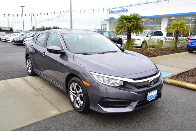New 2017 Honda Civic Sedan LX CVT w-Honda Sensing