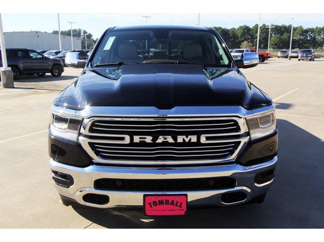 2020 Ram 1500 Laramie Diamond Black Crystal PearlcoatLt Frost BeigeMountain