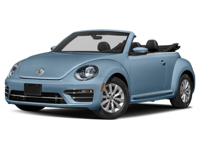 2019 Volkswagen Beetle Convertible Final Edition Sel Stonewashed Blue Metallic Brown Roof
