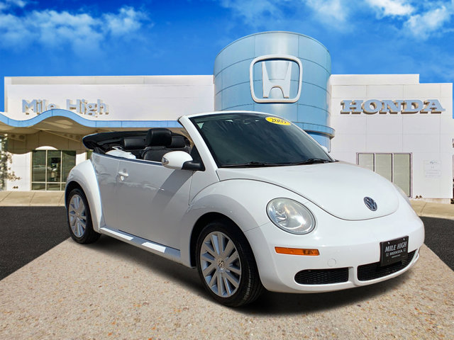 2009 Volkswagen New Beetle Convertible 2dr Auto S WHITE