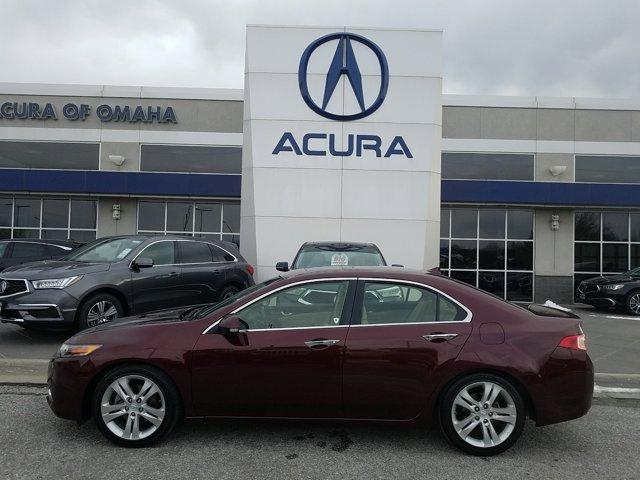 2012 Acura TSX 4dr Sdn V6 Auto Tech Pkg BASQUE RED PEARL
