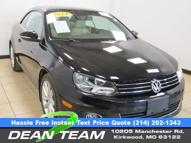 2014 Volkswagen Eos BLACK Climate Control CD Player Bucket Seat