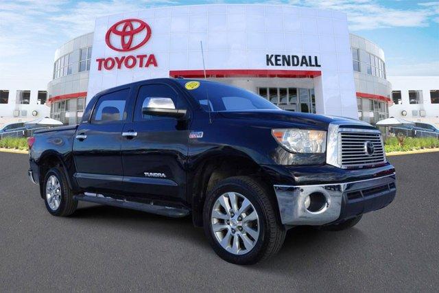 2012 Toyota Tundra 4WD Truck CrewMax 5.7L V8 6-Spd AT LTD BLACK