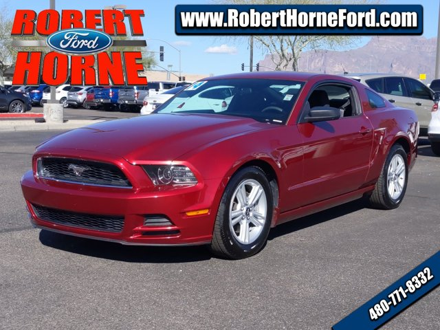 2014 Ford Mustang 2dr Cpe V6 RED Cloth Seats CD Player