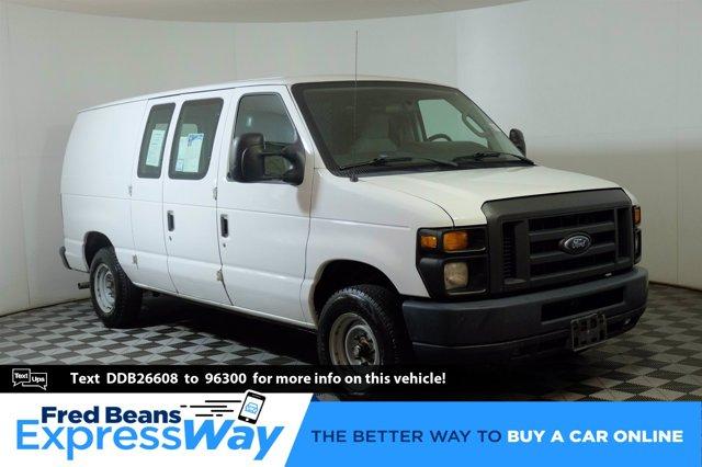 2013 Ford Econoline Cargo Van E-150 Commercial WHITE