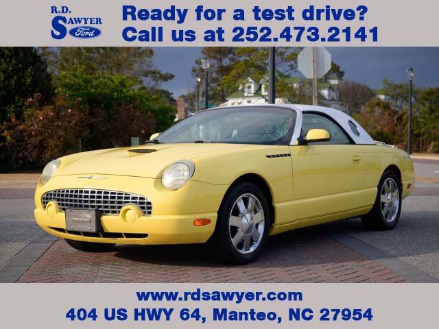 2002 Ford Thunderbird YELLOW Cruise Control Convertible Soft To