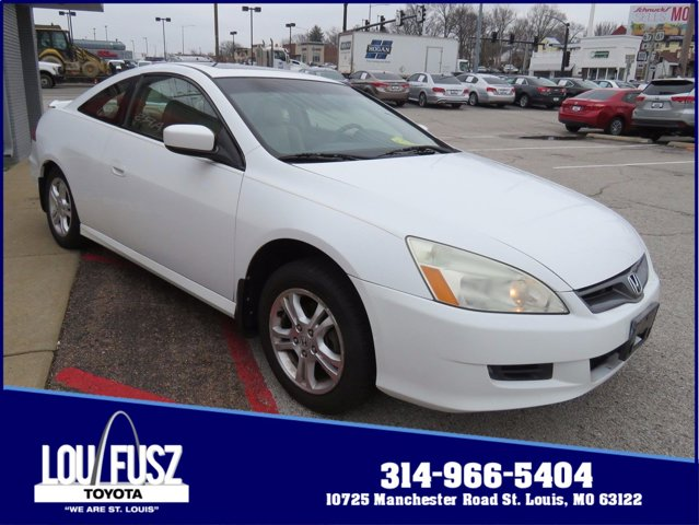 2007 Honda Accord Cpe 2dr I4 AT EX-L TAFFETA WHITE