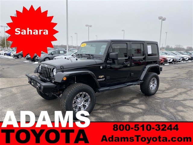 2014 Jeep Wrangler Unlimited 4WD 4dr Sahara BLACK CLEARCOAT