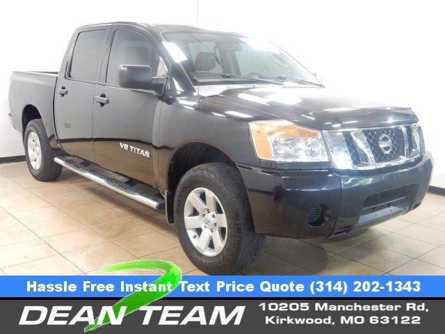 2009 Nissan Titan 4WD Crew Cab SWB XE FFV GALAXY BLACK