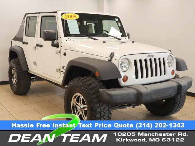 2008 Jeep Wrangler 4WD 4dr Unlimited X STONE WHITE