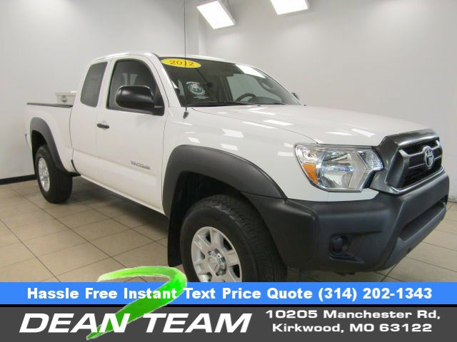 2012 Toyota Tacoma 2WD Access Cab V6 AT PreRunner WHITE
