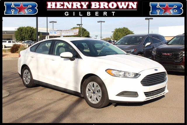 2014 Ford Fusion 4dr Sdn S FWD WHITE Bucket Seats Brake Assist