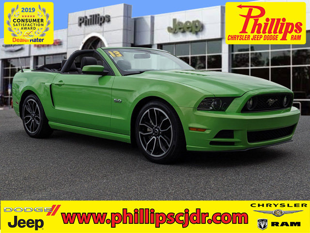 2013 Ford Mustang 2dr Conv GT GREEN Convertible Soft Top