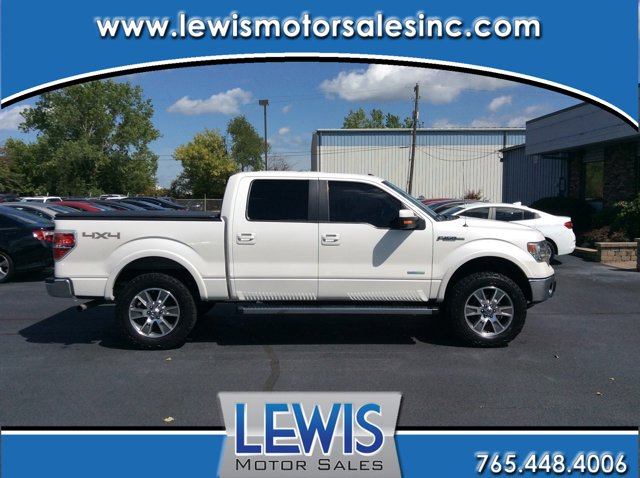 "2014 Ford F-150 4WD SuperCrew 145"" Lariat WHITE PLATINUM"