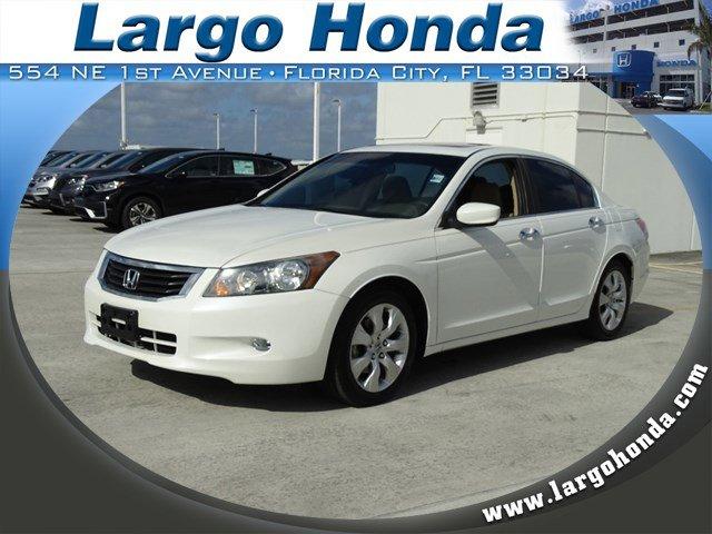 2010 Honda Accord Sdn 4dr V6 Auto EX-L WHITE