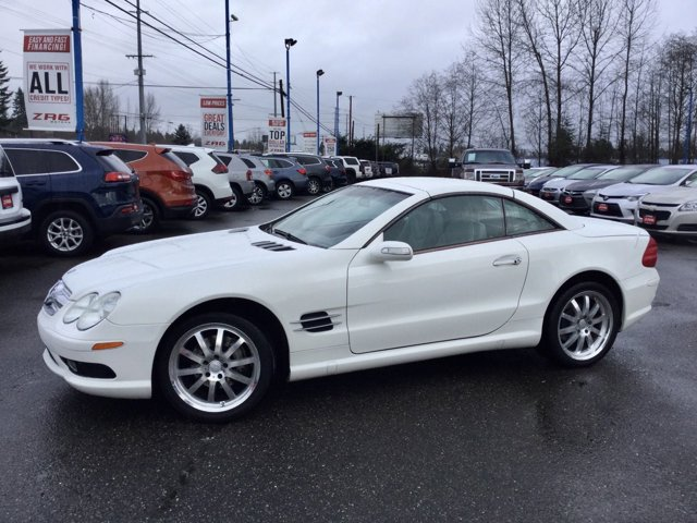 2004 Mercedes-Benz SL-Class 2dr Roadster 5.0L ALABASTER WHITE