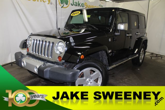 2011 Jeep Wrangler Unlimited 4WD 4dr Sahara BLACK CLEAR COAT